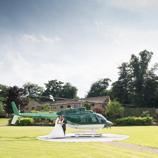 bride and groom helicopter, Gav Harrison Photography, Pontefract Wedding Photographer
